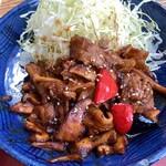 茶寮 伊勢藤次郎 - 豚肉と季節野菜の味噌炒め