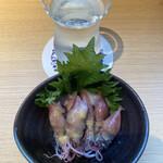 横浜 三河屋 - ホタルイカ酢みそ、これも日本酒に合う