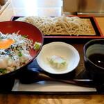 """そば道 東京蕎麦style - """"しらす丼とそばのセット"""" 全景"""
