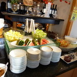 レストラン シャングリ・ラ - 料理写真:朝食バイキング(サラダ&フルーツ)