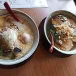 らぁ麺 てっぺん - 鶏らぁ麺&煮干しらぁ麺