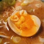 自家製麺つけ麺 紅葉 - 自家製麺つけ麺 紅葉@国分寺 味玉