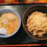 自家製麺つけ麺 紅葉 - 自家製麺つけ麺 紅葉@国分寺 味玉つけ麺・変り麺(930円)