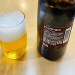 松美屋 - 瓶ビールはキリンラガービールの中瓶