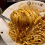 ミート屋 - 麺アップ