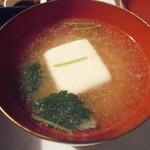 中川政七茶房 - 胡麻豆腐のお吸い物