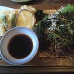 14761678 - 天ざる蕎麦+海草トッピング