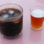 cafe Lac - アイスコーヒーとランチのデザート(紅茶ゼリー)