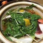 奥津温泉・やまんど(山人)の民宿ことぶき荘 - 料理写真:ぼたん鍋