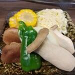海鮮バーベキュー 大漁丸 - 焼き野菜盛り合わせ 600円