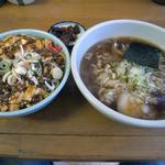 桂山 - 麻婆丼&しょうゆラーメン