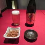 杉並 まん月 - 瓶ビール・お通し