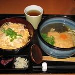 穂の香 - 日替定食(親子丼、うどん) 700円