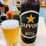 大衆酒蔵 幸楽 - サッポロ黒ラベル  大瓶 520円