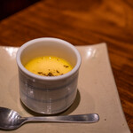 蒼天 - 2021.3 茶碗蒸し(チーズ、ミニトマト、オリーブオイル、乾燥バジル)