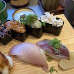 147648792 - ハマチ、アジ、エンガワユッケ、牡蠣、ホッキ貝サラダ