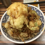 まん福 - 料理写真:半熟卵のせかき揚げ丼