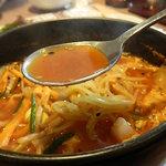 14768734 - 辛口温麺のスープ