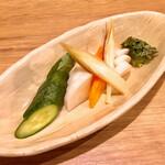 一文無 - 料理写真:みど婆のぬか漬け450円