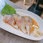 ごっつり - 銀鯖刺し(づけ) 380円