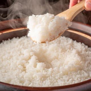 土鍋で炊いたご飯は格別です。