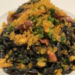 イタリア料理 スペランツァ - イカ墨練り込みパスタに蛍イカ、大量カラスミ、菜花!めっちゃ美味かった!