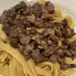 イタリア料理 スペランツァ - 平麺パスタにいのしし肉のソース
