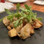イタリア料理 スペランツァ - 筍と何貝?香草も効いてます。