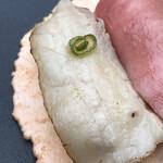 湯島庵 - 納豆喰豚バラ