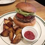 Burger Stand Tender - ハンバーガー フレンチフライセット