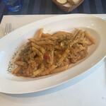 147729764 - マエストラーレ(北西の風)コース ¥2,500税込                                              カマスのサルシッチャのトマトソース ペンネ