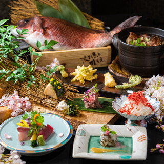 「春野菜の天ぷら」と「鯛の土釜飯めし」食べれる2時間コース