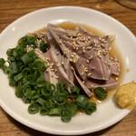 にこみちゃん - 豚タン先ポン酢。あっさりと美味しいですよ♪