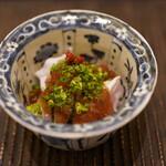 魚菜料理 縄屋 - 虎河豚:ジュレがけ