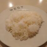 キッチンウェスト - ライス、200円。お皿にくっつかない素晴らしい仕上げ。