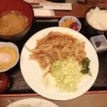 銀座しゃぶしゃぶ petit 羅豚 - 生姜焼き御膳(1100円税込)