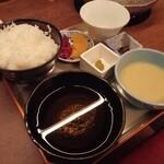 銀座しゃぶしゃぶ petit 羅豚 - ごはん、タレ、白味噌タレ、肉味噌