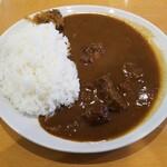 147748318 - 国産黒毛和牛カレー 中辛 1,300円スープ付き 1,200円単品
