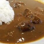 147748322 - 国産黒毛和牛カレー 中辛 1,300円スープ付き 1,200円単品