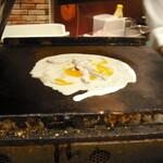 アスカ - 料理写真:プレス前のいか焼き