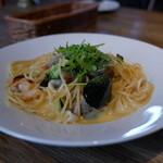 hanadankafe - 魚介のクリームパスタ・ウニ風味