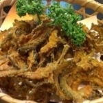 山中川魚料理 - ゴーヤチップ@サービス品