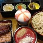 山中川魚料理 - ミニうな重セット@2100