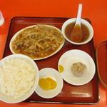 梅華楼 - 日替定食(肉と玉ねぎ炒め)