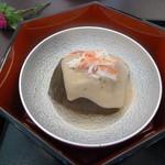 四季亭 - 茄子の胡麻あんかけ・蟹・柚子