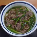 うどんと丼 ふる里 - 肉うどん 550円