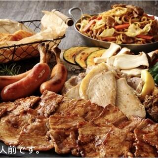事前申し込み&当日お渡しの豪華な「肉、野菜、海鮮」を堪能◎