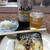 横田酒店 - 料理写真:瓶ビールと焼き鯖