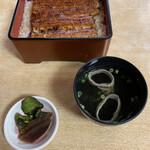 川千家 - うな重 竹と肝吸、漬物('21/03/17)