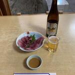川千家 - 鯉 あらいをつまみに昼酒です(嬉) ('21/03/17)
